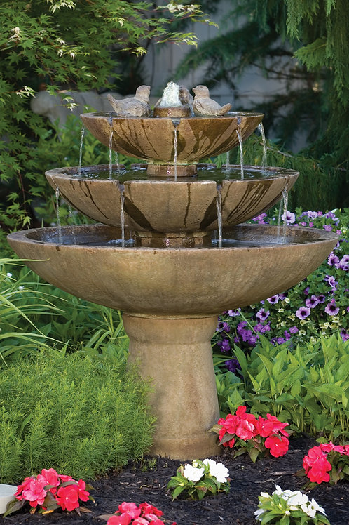 """48"""" Tranquillity Spill Fountain With Birds"""
