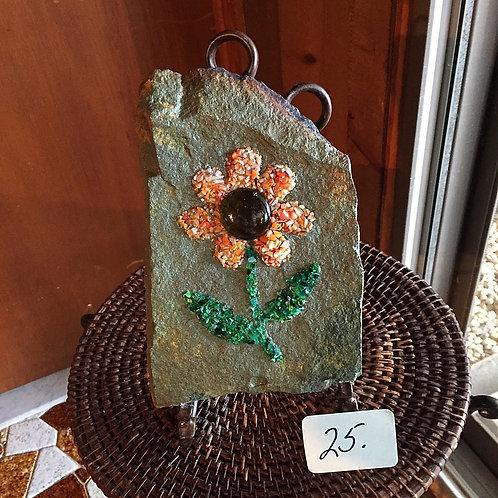 "Mosaic Orange Flower ""On the Rocks"""