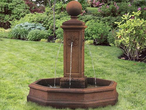"""78"""" Fleur De Lis Globe Fountain"""