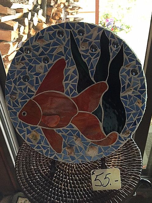 Orange Fish Circle Stepping Stone