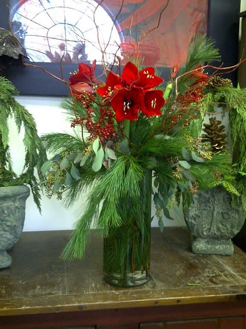 Tall Amaryllis Arrangement