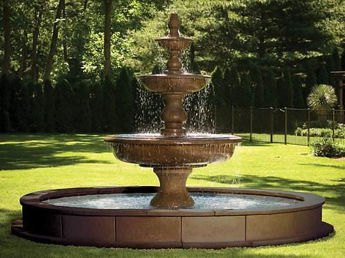 "112"" Monticello Fountain on 12' Pool"