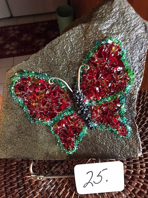 """Red Butterfly """"On the Rocks"""""""
