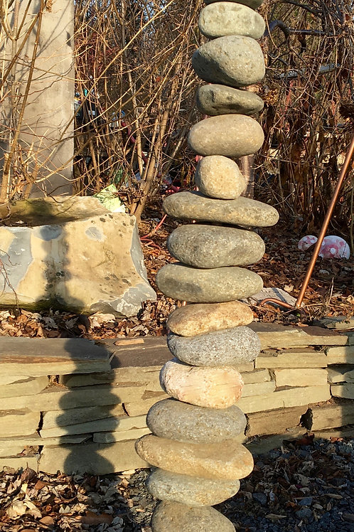 Stacked Stone Garden Ornament (Indoor or Outdoor)