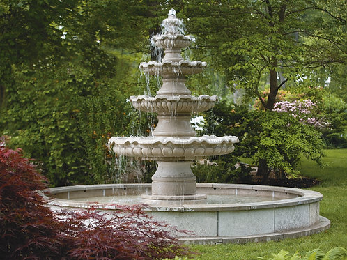 Renault Extra Large Four Tier Fountain On 12' Pool