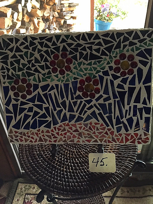 Mosaic Glass Rectangle Stepping Stone