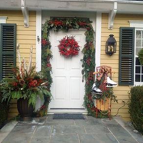 Christmas container garden and seasonal