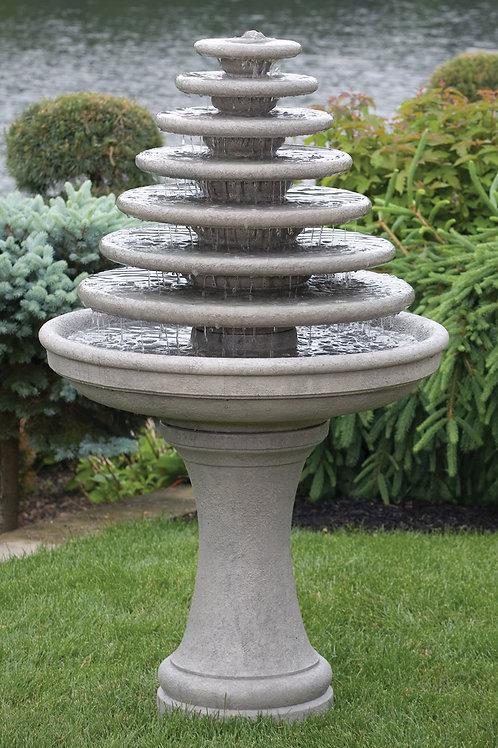 Seven Tier Gozo Fountain On Pedestal