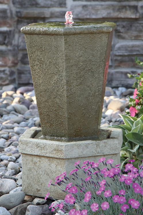 Tuscan Hex Urn Fountainette (Light Up)