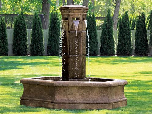 Volterra Column Fountain on 6' Hex Pool