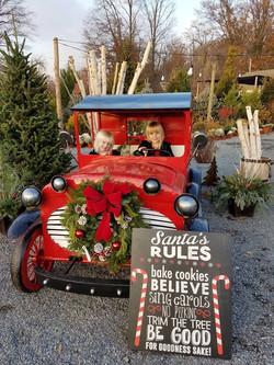 Christmas Car with girls
