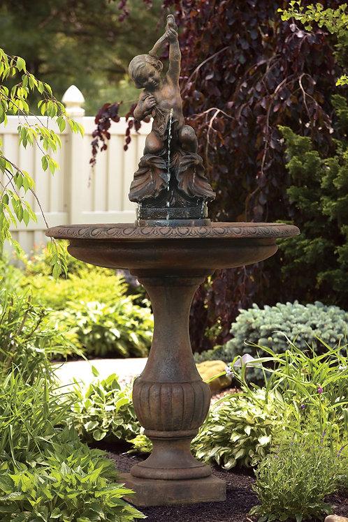 "87"" Cherub And Shells Fountain"
