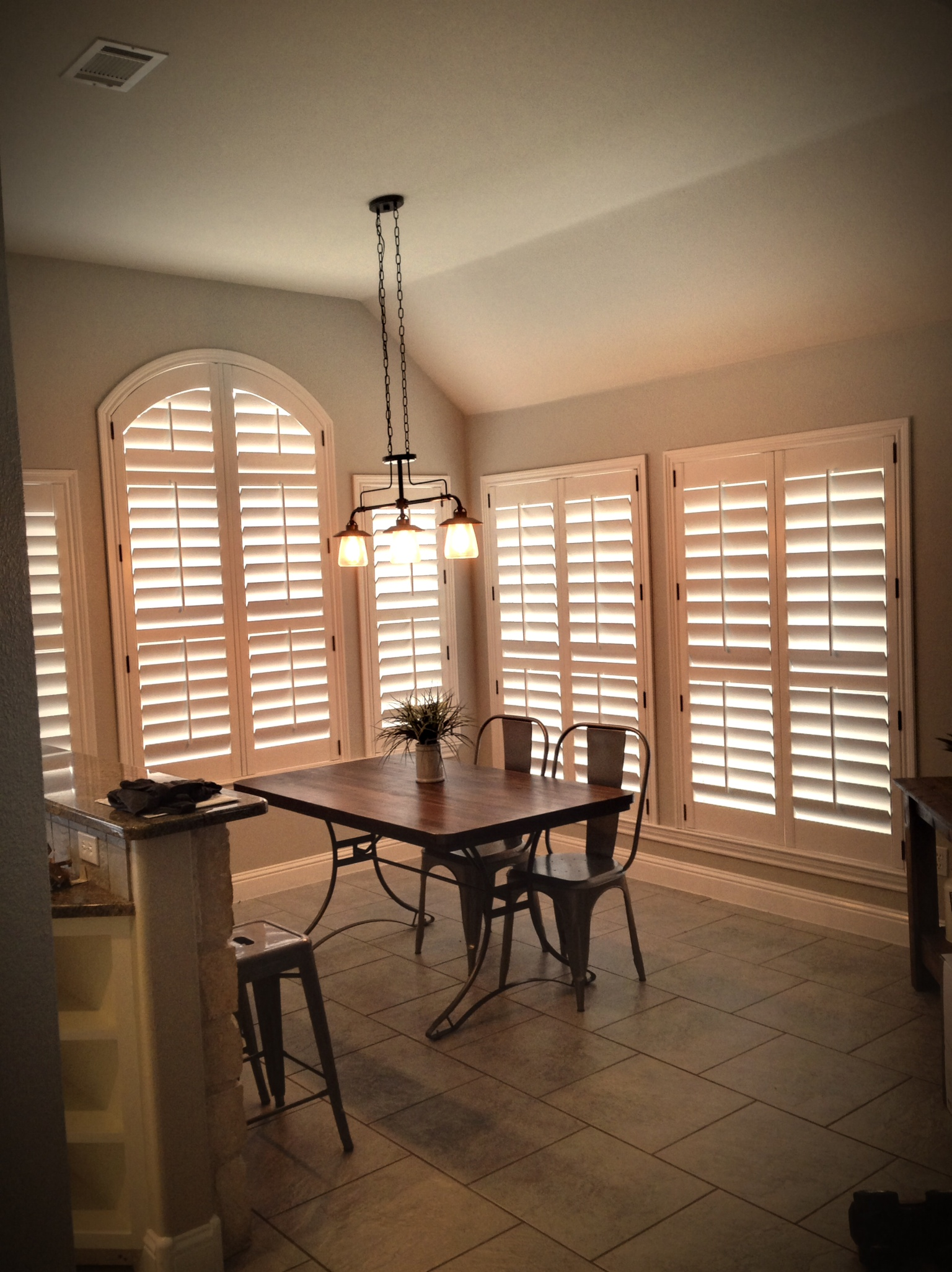 after - arched shutter