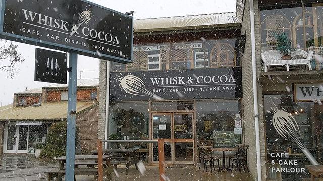 Snowfall at Whisk and Cocoa, May 2019