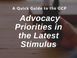 A Quick Guide to the GCP Advocacy Priorities Passed in the Latest Stimulus
