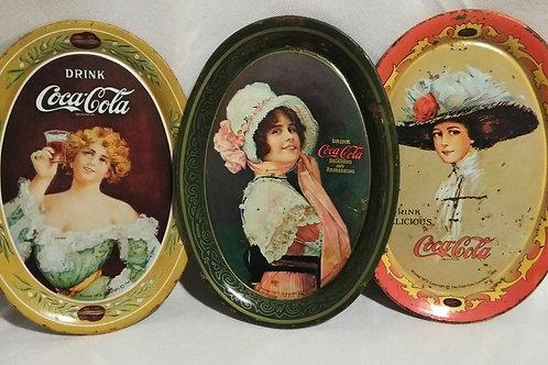 Vintage Coca-Cola 6 x 4 1/4 Tins
