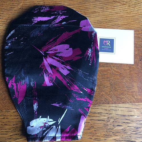 Black & Pink Silk Pouch Cover