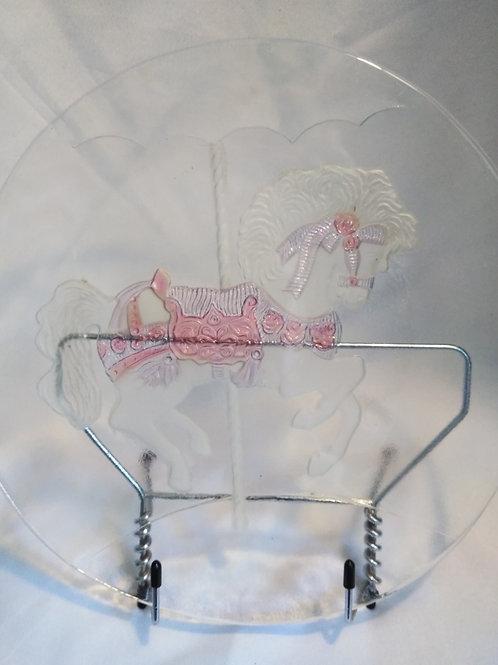 Carousel Horse Decorative Glass Plate