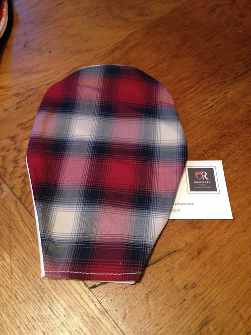 Stoma Pouch Cover Mens Plaid
