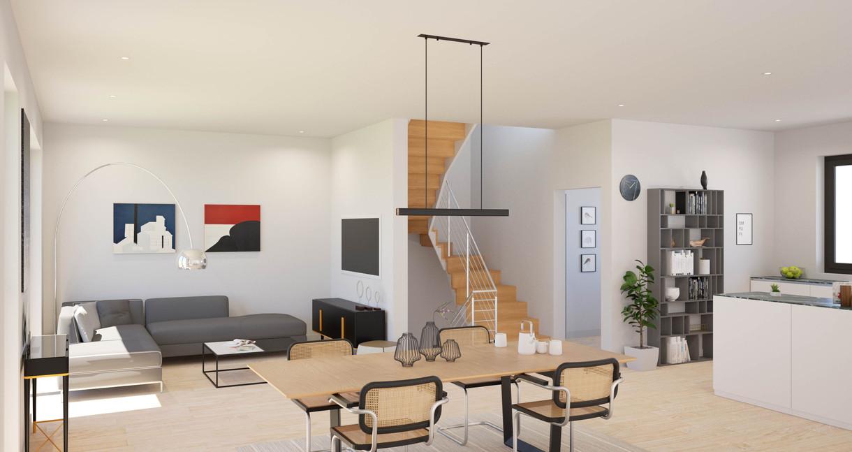 Objekt Godorf-Wohnzimmerbeispiel