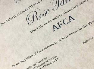 AFCA Signature Status...