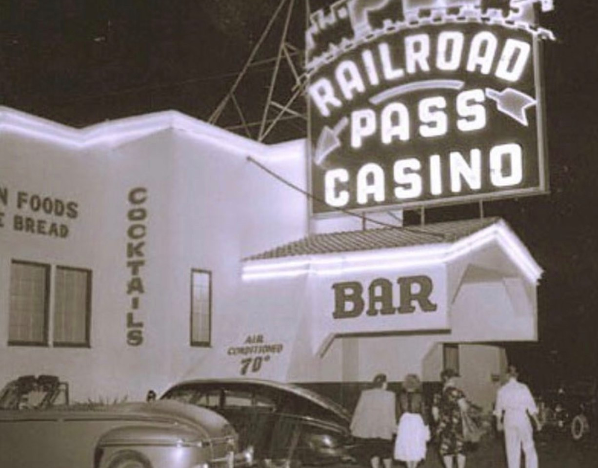 The Railroad Pass Hotel & Casino opened in 1931. The same year gambling became legal in Nevada!