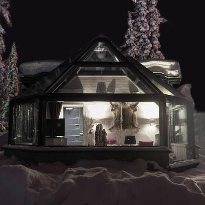 Santas Hotel At Night