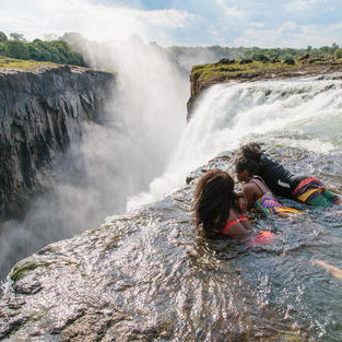 Swim to the edge of Victoria Falls at Devil's Pool