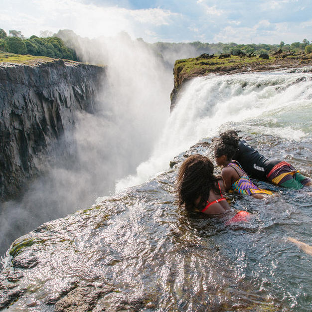 Swim to the edge of Victoria Falls at Devil's Pool