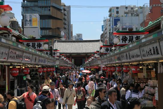 Nakamise Street in Asakusa