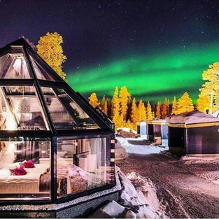 Watch the northern lights from an igloo in Lapland