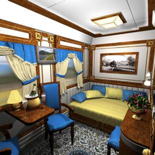 Golden Eagle Trans-Siberian Train through Russia