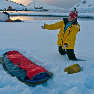 Camp out on Antarctica