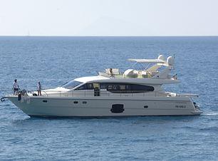 20 meter motor yacht Ferretti 630 crewed charter Aeolian Islands