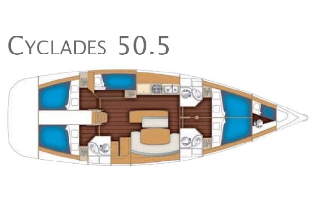 Cyclades 50.5 Galeodea Piantina