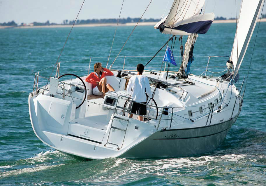 5 cabins ciclades 50.5, 15 mt sail boat bareboat yacht charter in Aeolian Islands