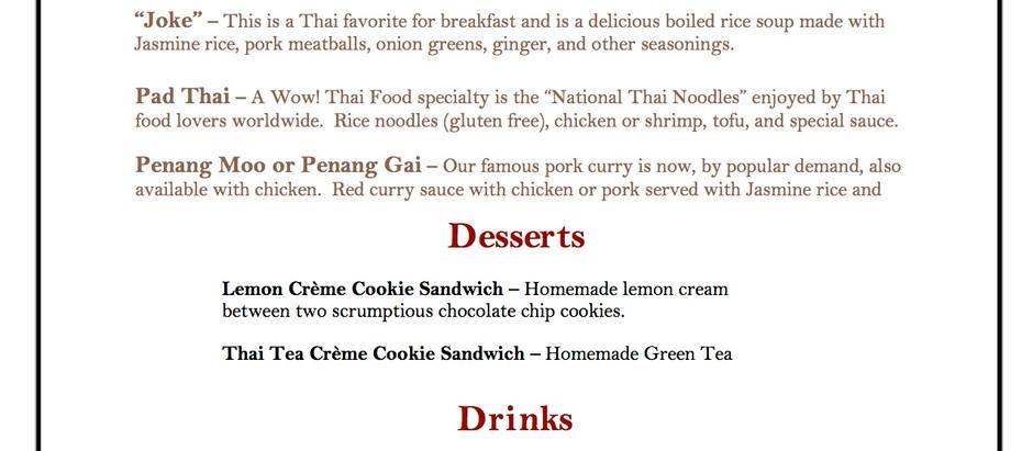 Wow! Thai Food Sunday Brunch!