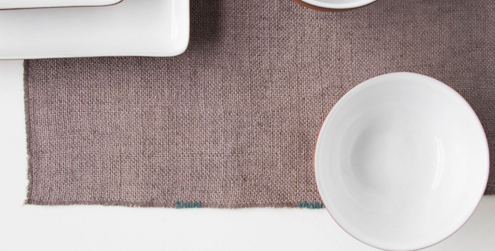 Woven Placemat- Cinder