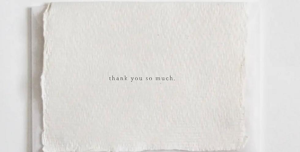 thank you so much mini card