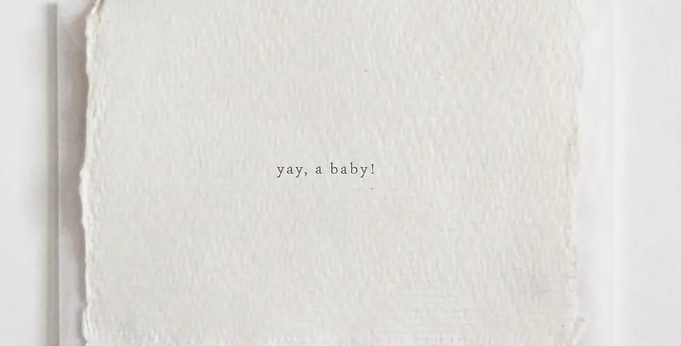 yay, a baby! mini card