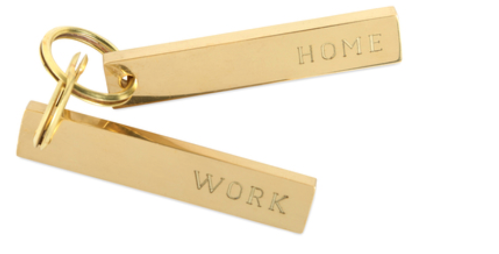 Home and Work Key Rings