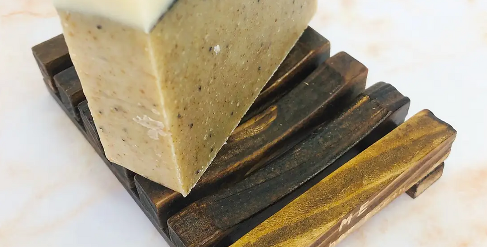 Stained wood bamboo soap dish | Eco-Friendly