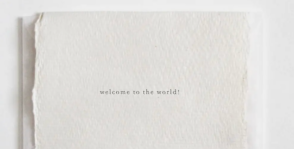 welcome to the world mini card