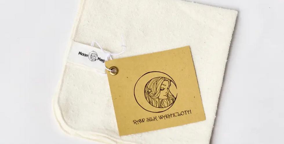 Raw Silk Washcloth