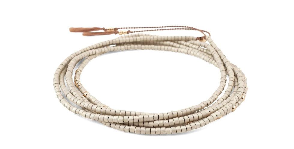 Abacus Row Bracelet Matte Silver