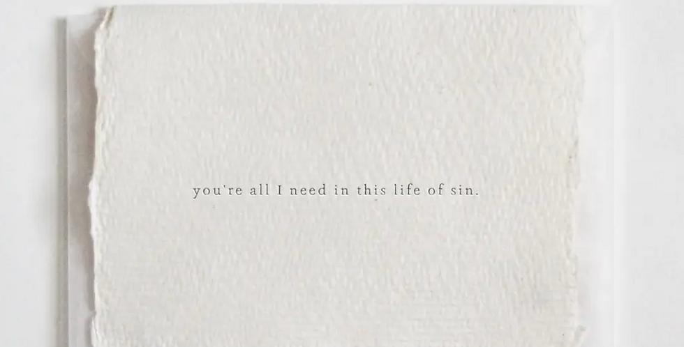 you're all i need mini card