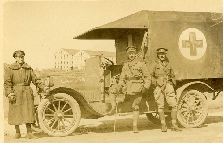 Lt. Gout with Field Ambulance