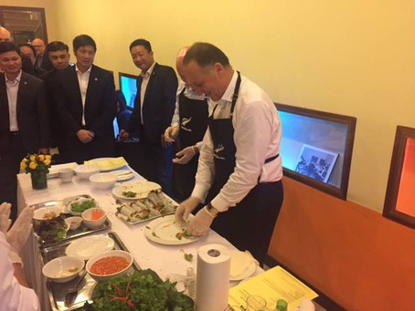 The Right Honourable John Key, New Zealand Prime Minister visited and joined KOTO cooking class