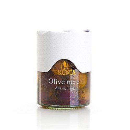 Olives Noires à la Sicilienne - 290g