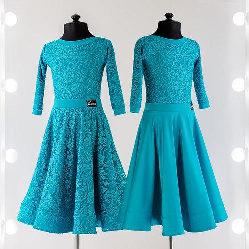 Платье для бальных танцев с двусторонней юбкой